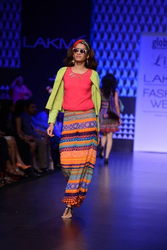 Winter/ Festive 2013. Global Desi with LIVA at Lakme Fashion Week 2013.