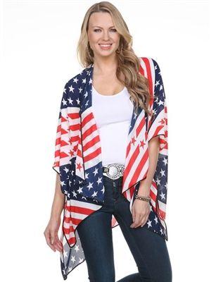 184096d45b6 Super chic American flag kimono