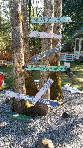 Neverland wedding signs