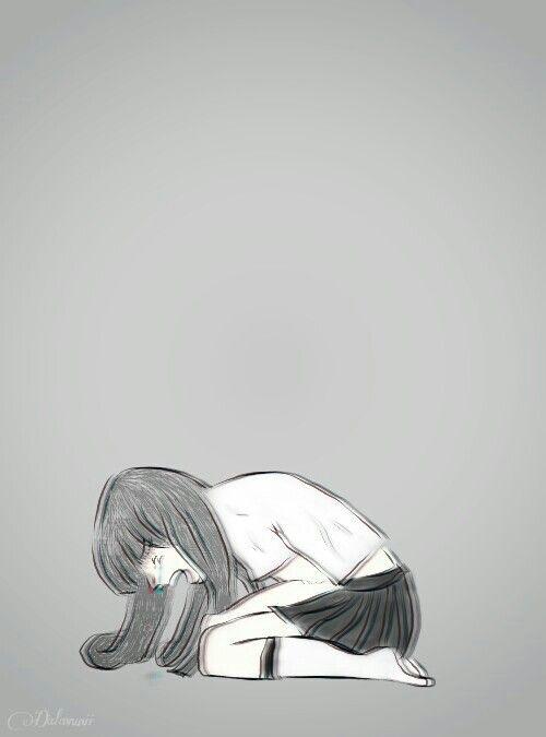 By Dalavunii Seni Inspirasi Gadis Anime Sedih Seni Gif