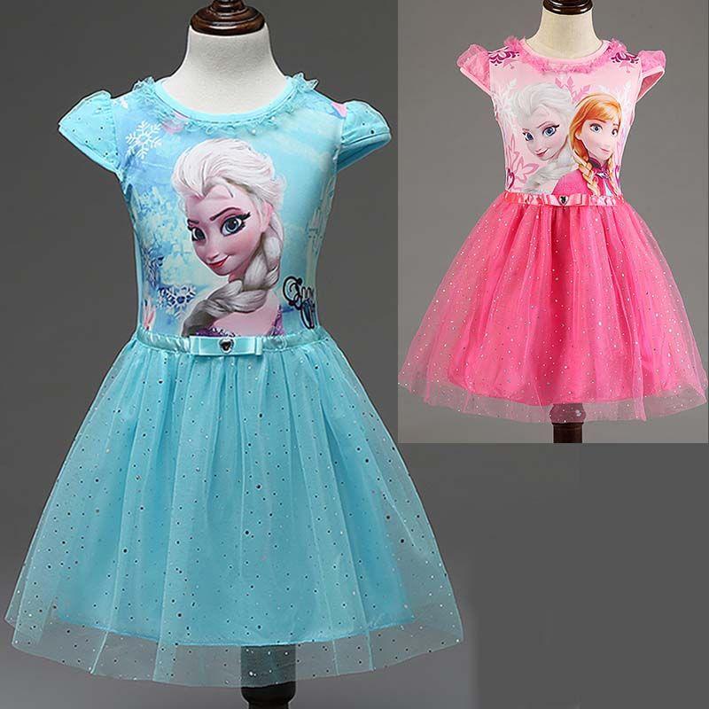 da6921168 New Elsa Anna Girls Dress Cosplay Party kid Dresses Princess ...