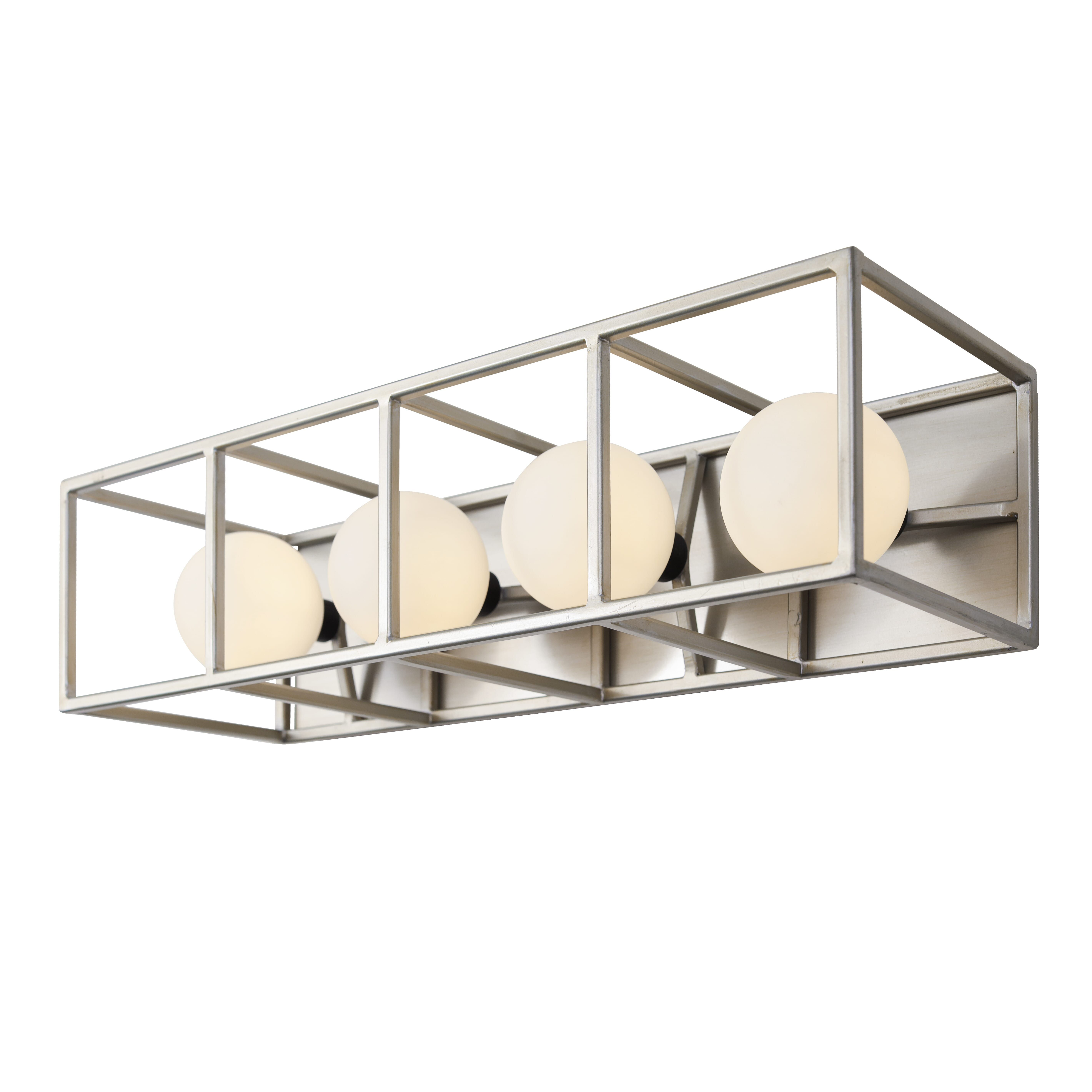 Photo of Varaluz Plaza 4-Light 5″ Bathroom Vanity Light in Silverado with Carbon