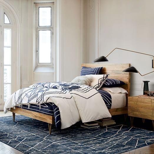 Roar + Rabbit™ Brass Geo Inlay Bed