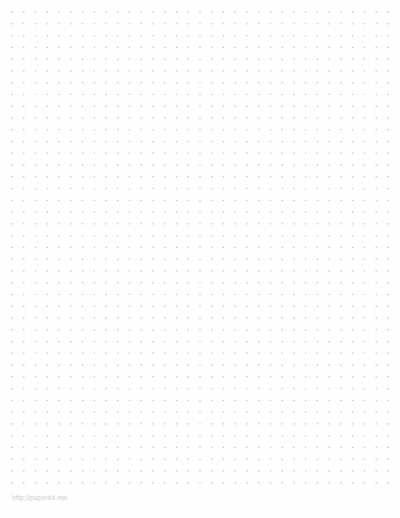 Inch Printable Dot Paper Template  PaperkitNetDottedpaper