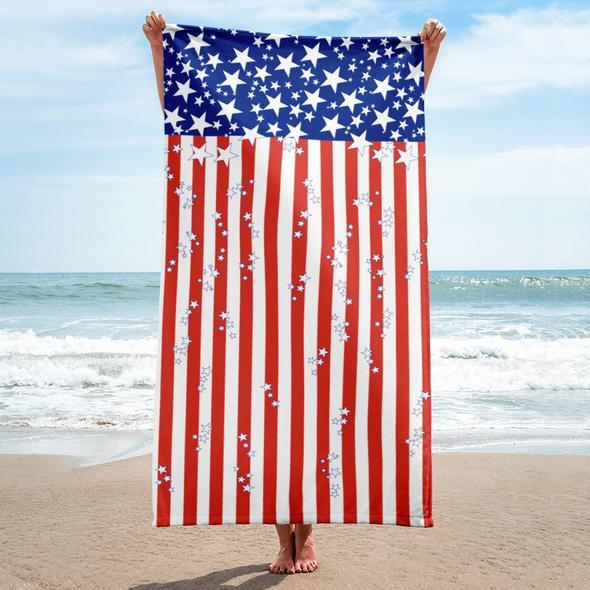 Stars N Stripes Beach Towel In 2020 Beach Towel Patriotic