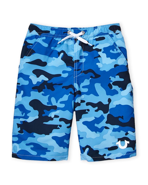 f19b532c14 True Religion (Boys 8-20) Royal Blue Camo Swim Shorts | *Clothing ...