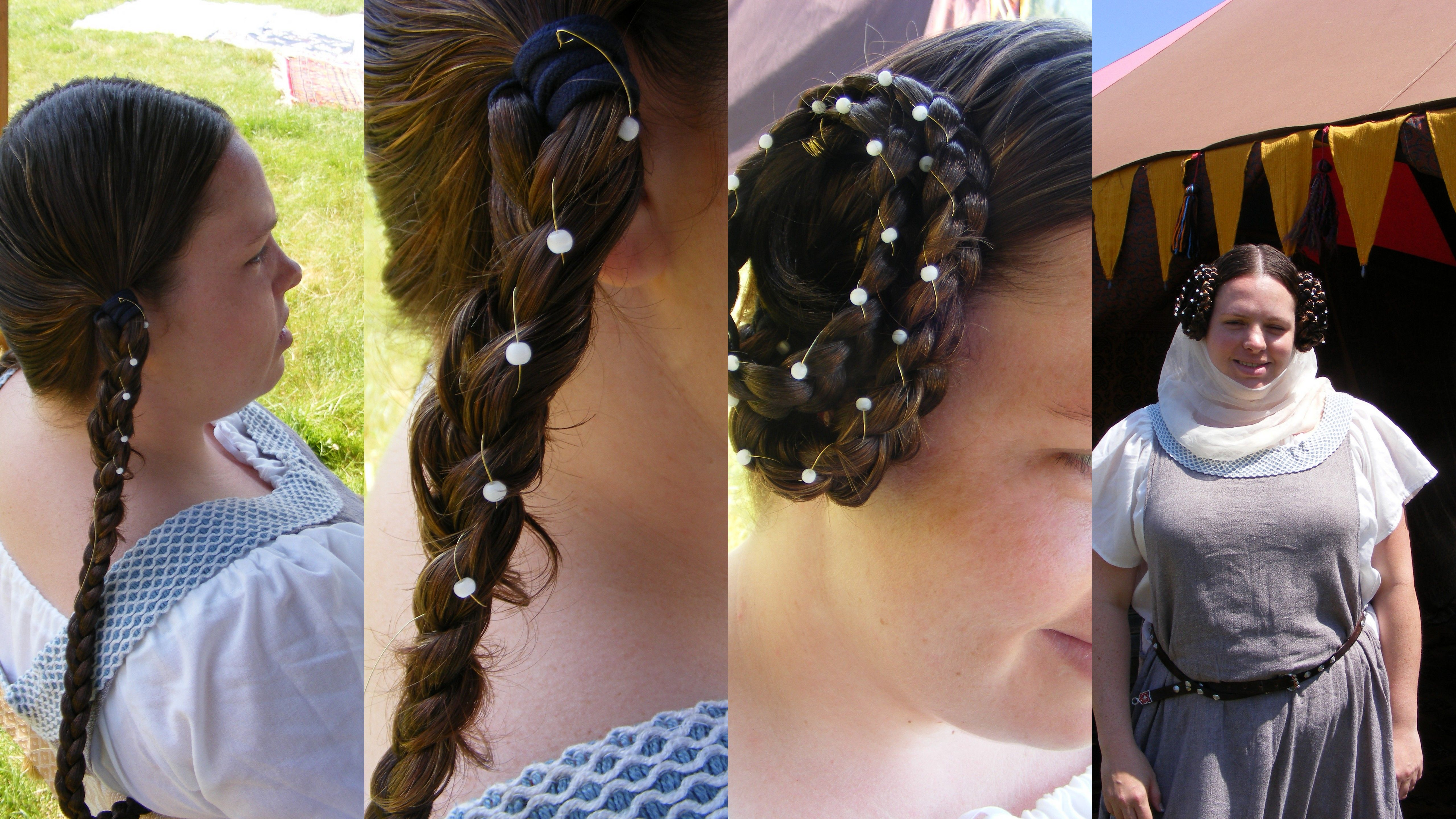 Templar Braids: Separate Hair Evenly Add False Hair Extensions To Length  Or Thickness To