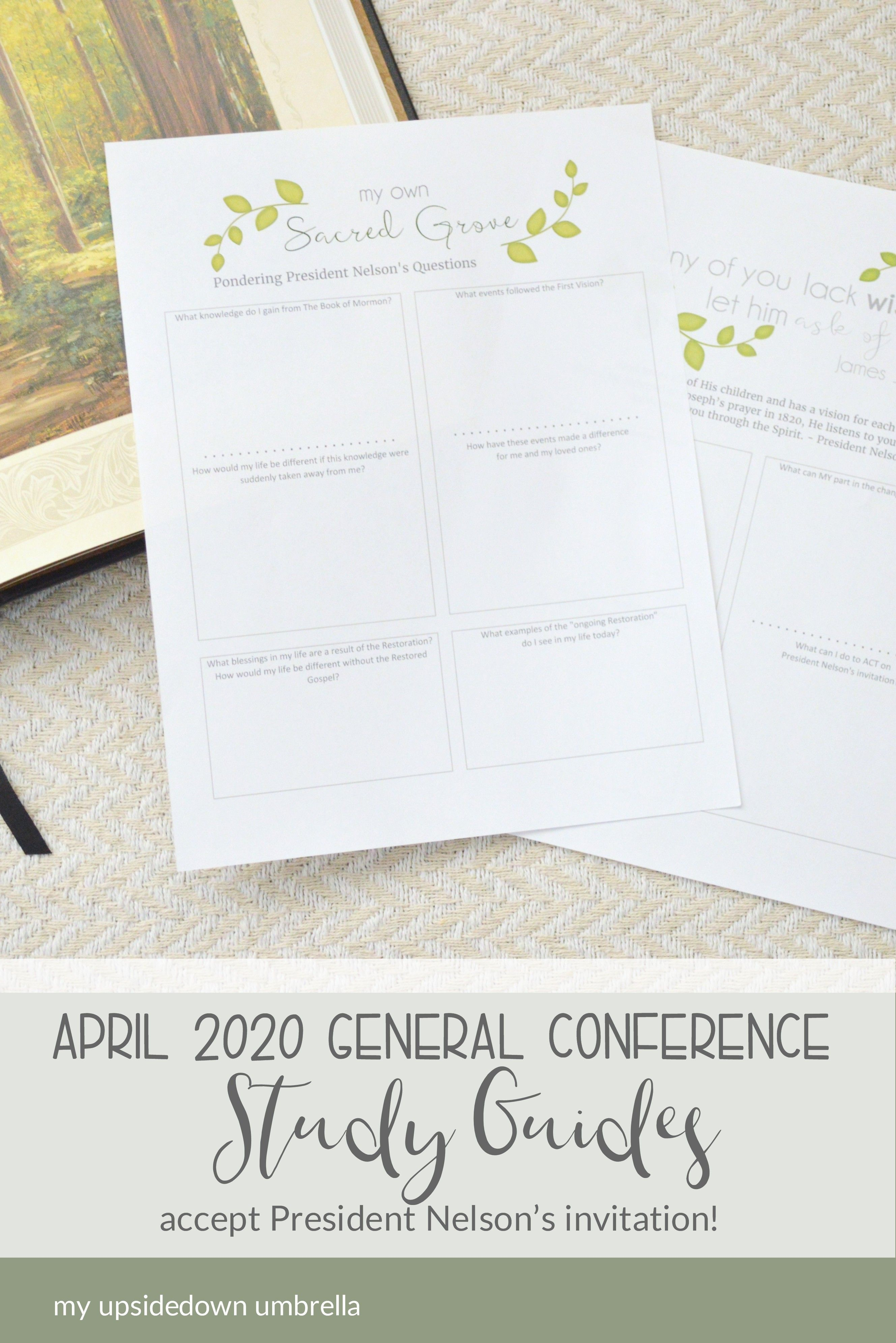 My Own Sacred Grove General Conference Printables In