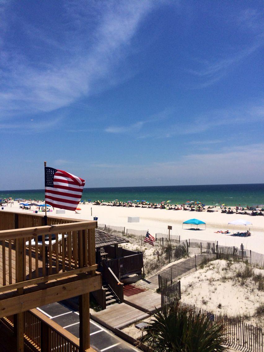 Happy Memorial Day Alabama Gulf Coast Area Beach View From