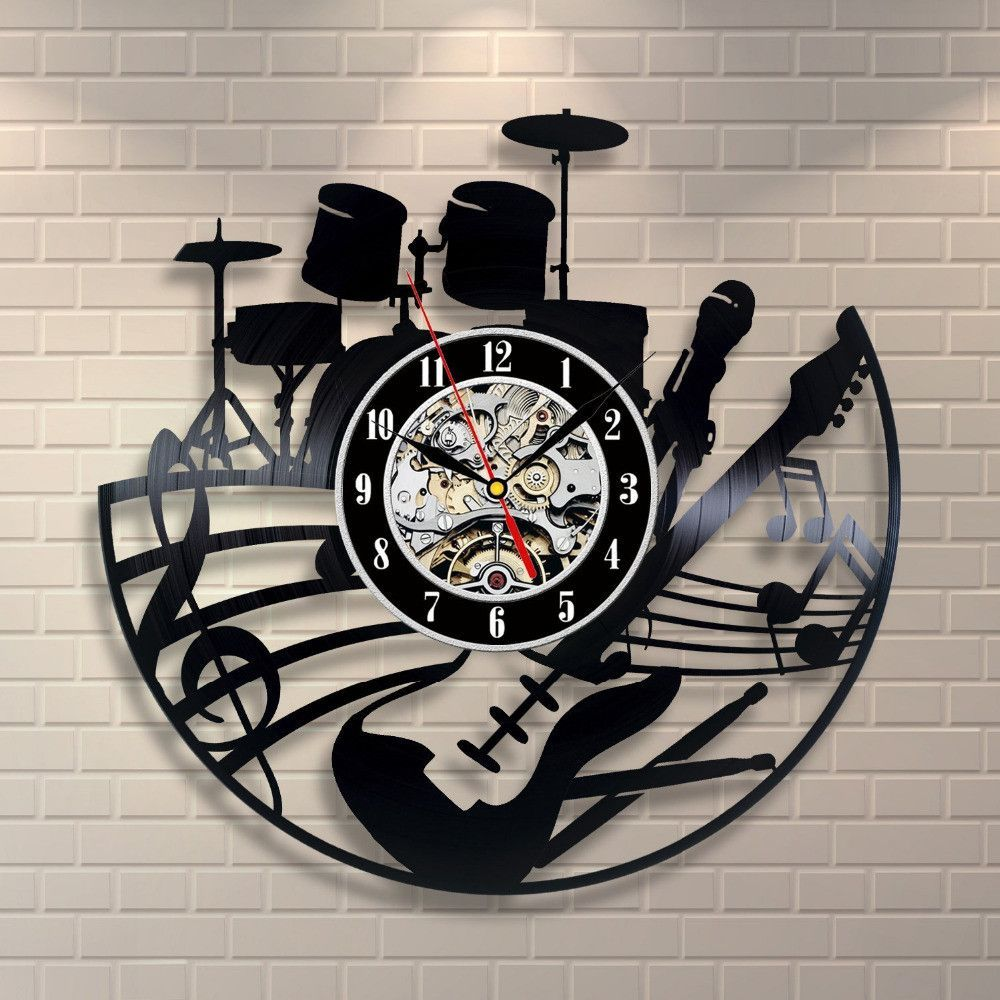 Rock & Roll Band Vinyl Record Clock | Vinyl art | Pinterest | Record ...