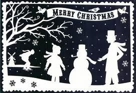 silhouette christmas - Google Search