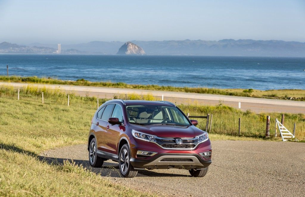 Take in the views of the ocean and mountains from the CRV