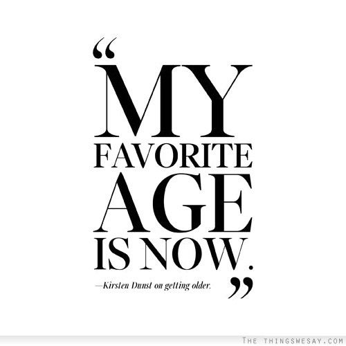 My age is