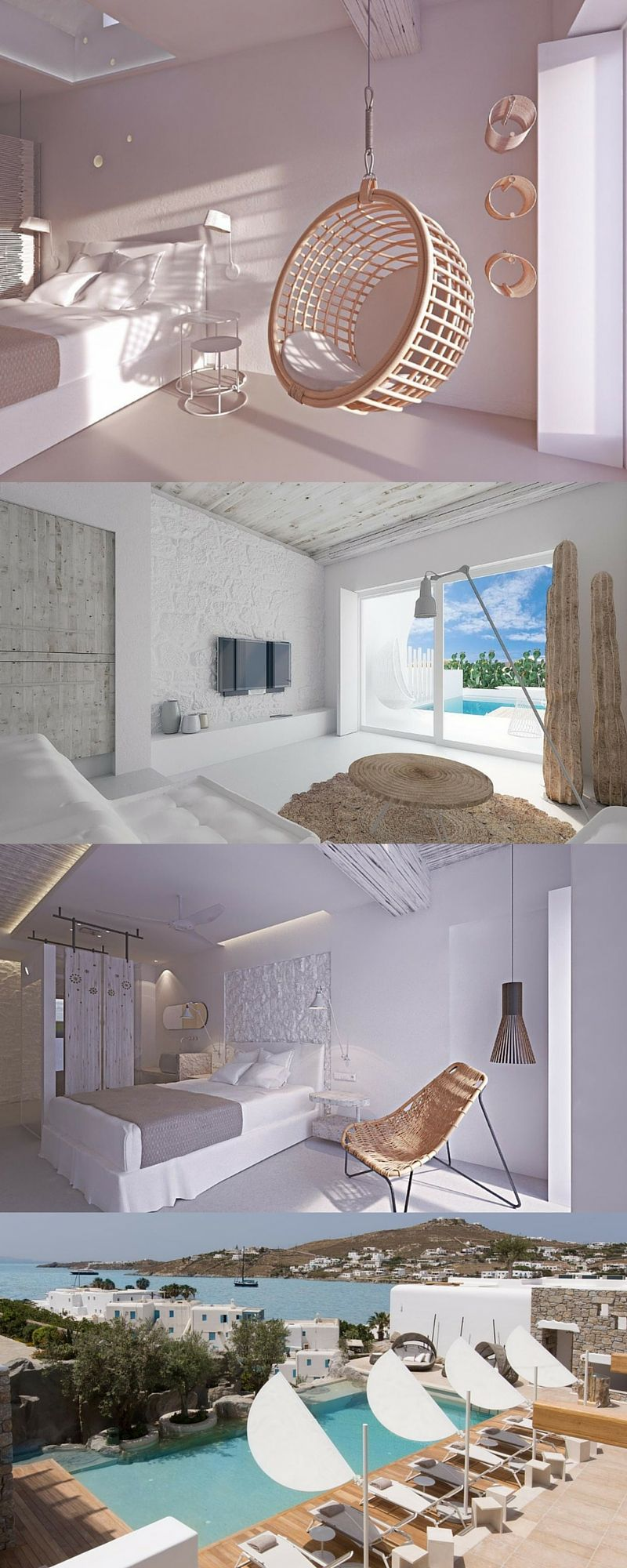 Kensho Boutique Hotel And Suites Combines Elements Of Traditional Cycladic  Architecture And Modern Minimalist Interior Design. #Mykonos #Greekislands  # ...