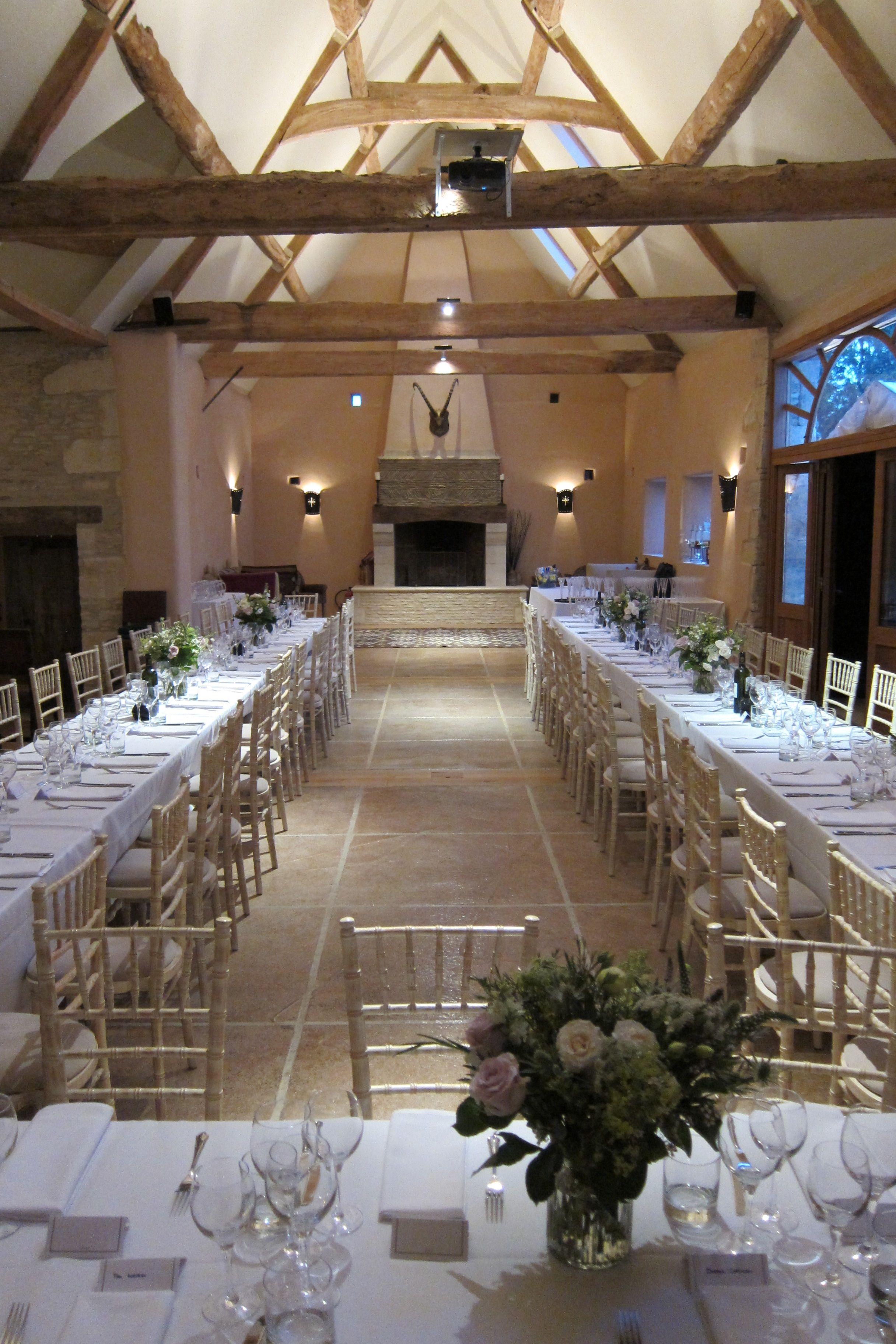 Banquet Tables In A U Shape Oxleaze Barn Barn Wedding Venue