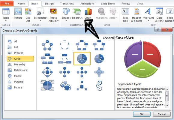 How To Create Diagrams In Powerpoint Using Smartart  Geek