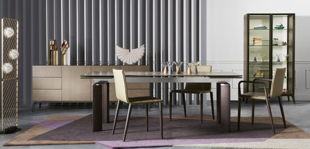 Dining Table 2 Integrated Extension Leaves L 40cm And Top In