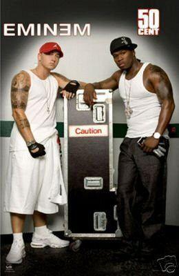 50 Cent In Da Club Mtv Version New Eminem And 50 Cent Poster Fifty Caution 24x36 50 Cent And Eminem Eminem Eminem Rap