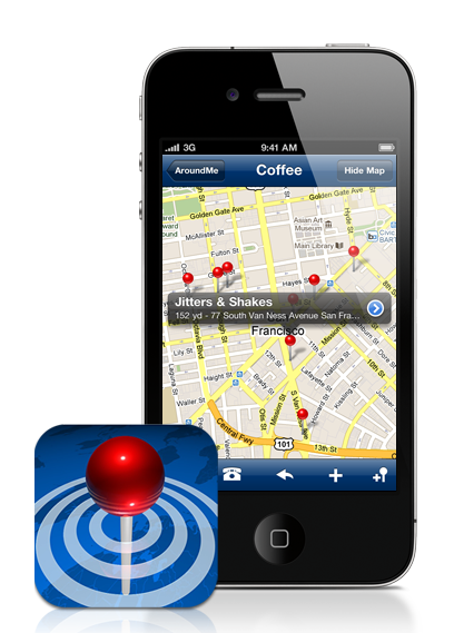 AroundMe App for iPhone is great to find businesses around you