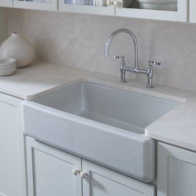 We love this deep, single-basin farmhouse-style kitchen sink. Go ...
