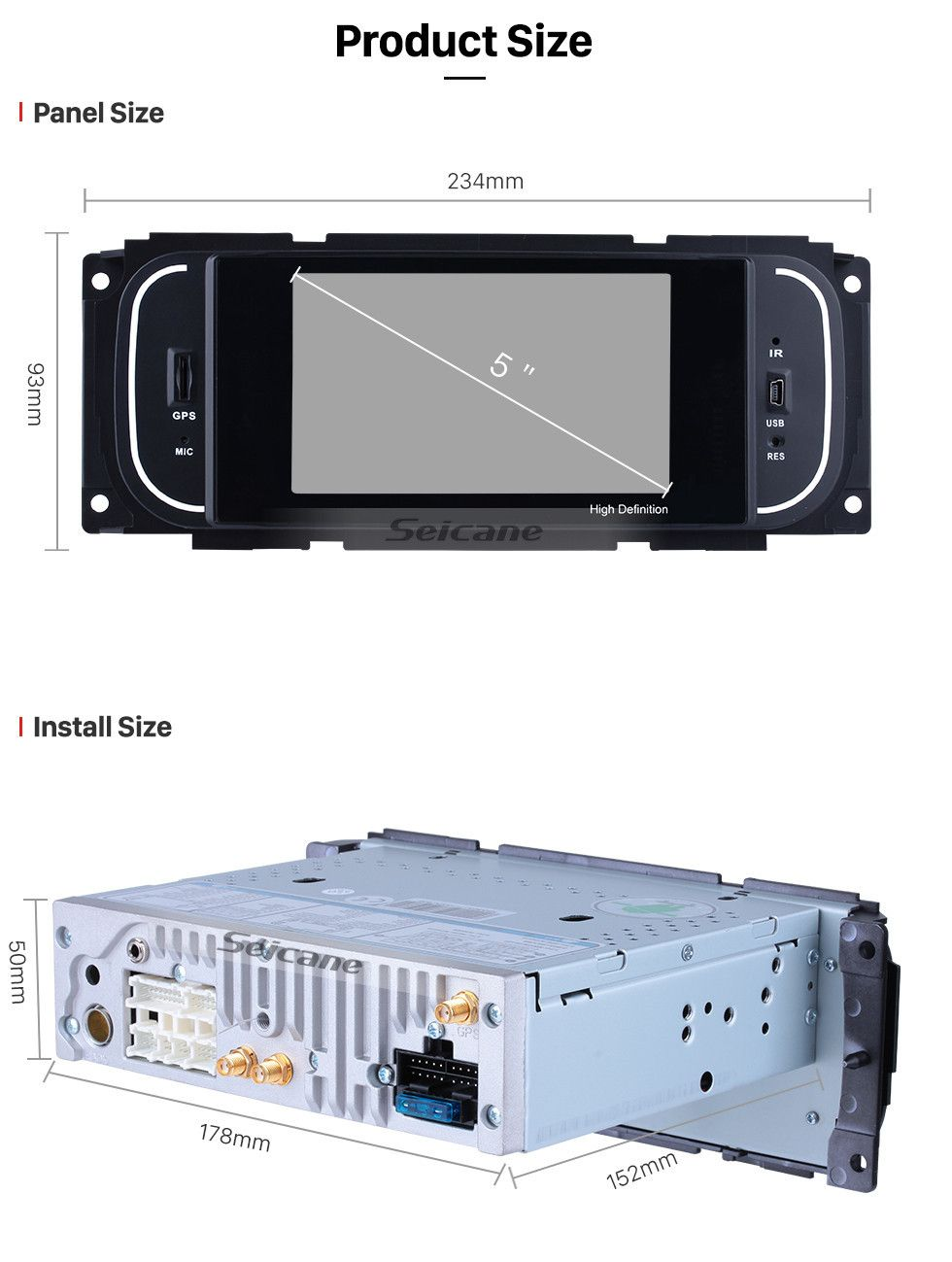 Seicane Android 8 1 Hd Touchscrenn Car Radio Head Unit For 2001
