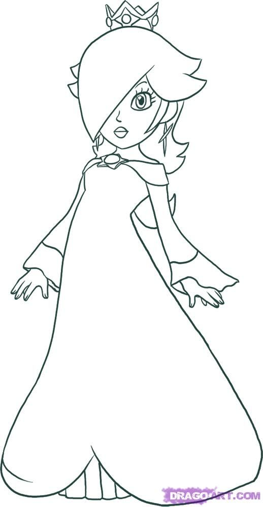 Rosalina Mario Coloring Pages. How to draw Rosalina  Doodles Pinterest