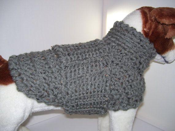 Crochet Dog Sweater, Dog Clothes, Crochet Dog Jumper, Pet Clothes ...