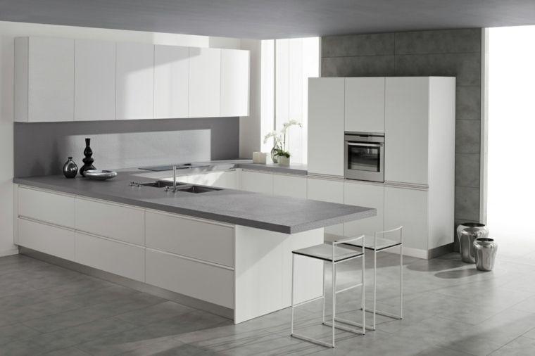 Plan de travail cuisine moderne en pierre et bois Kitchen design