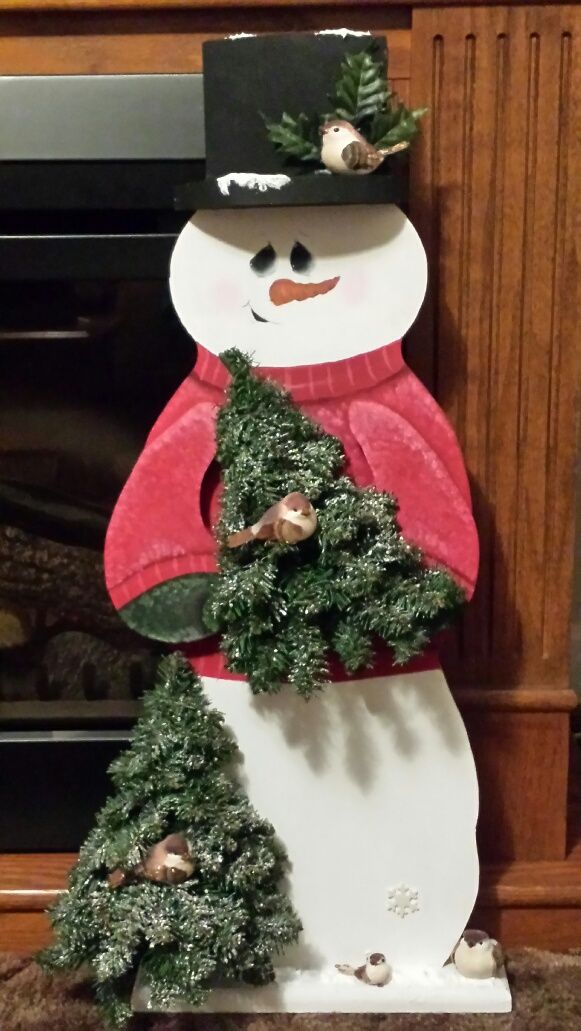 This snowman is 30 inches tall and is my design