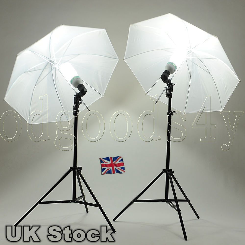 Photo Studio Lamp Umbrella Light Stand 2 x 135W Bulb Continuous ... for Umbrella Photography Lights  197uhy