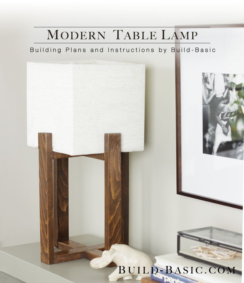 build this diy modern table lamp - building plans and instructions