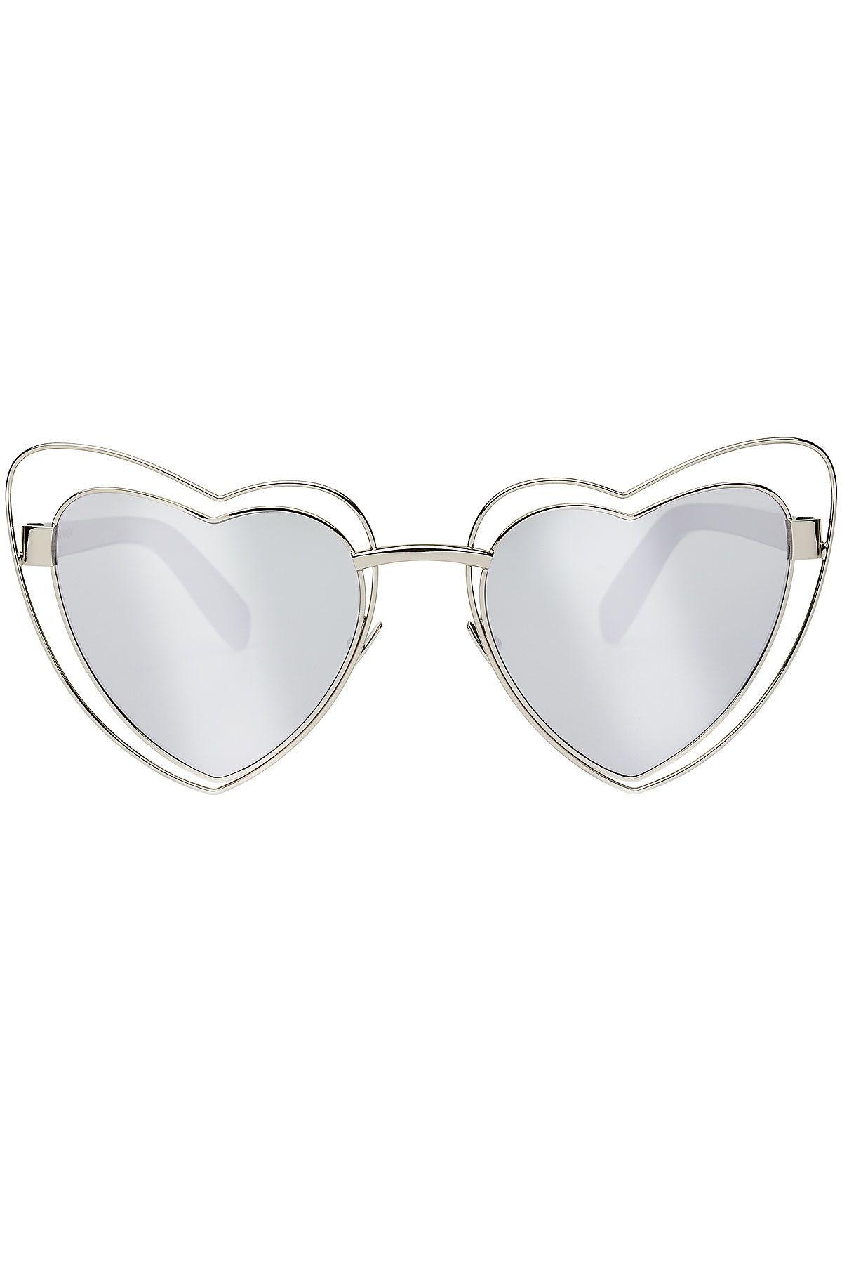 Saint Laurent LouLou Heart Sunglasses   Sunnies   Pinterest   Heart ... 15ceb0de6bc0