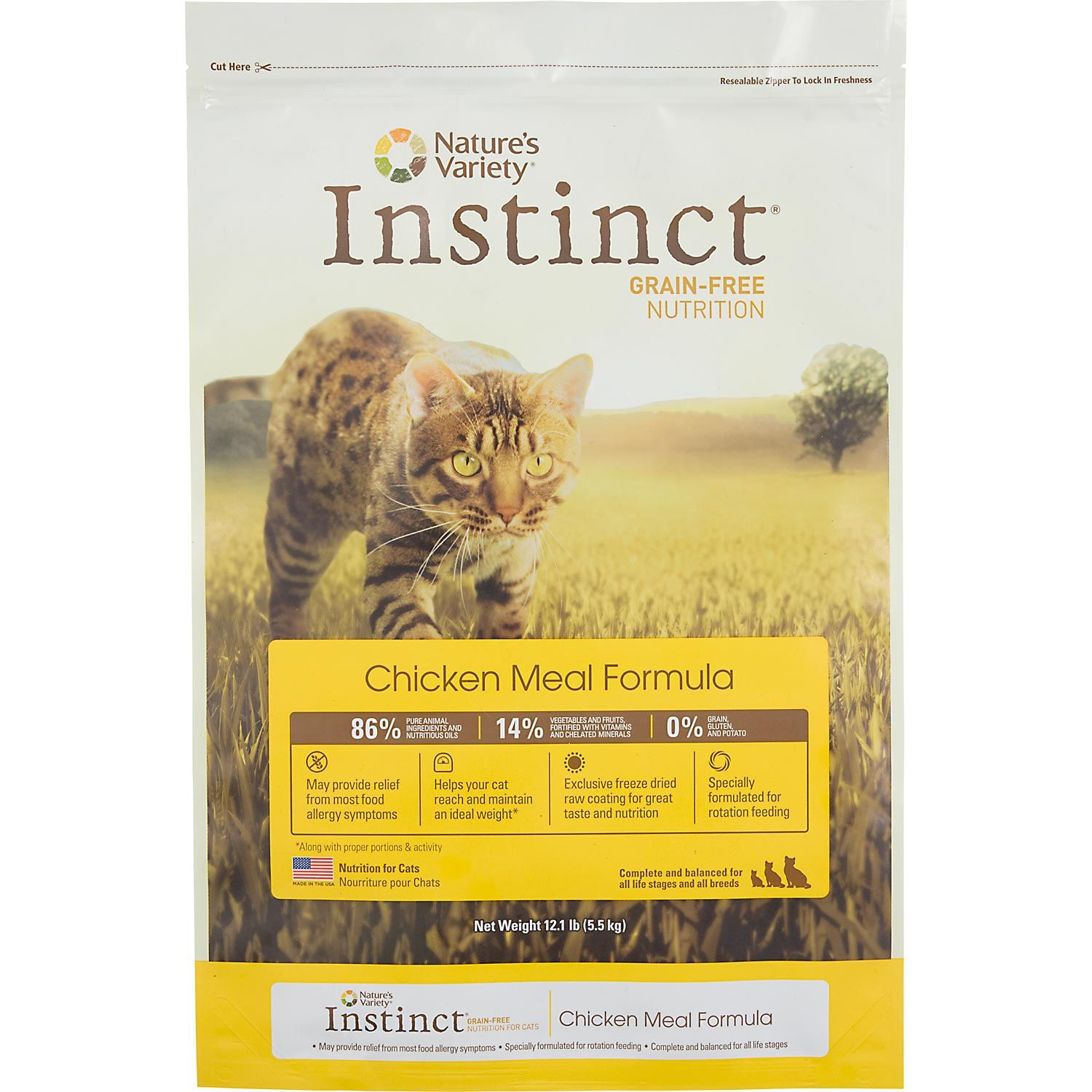Instinct Original Grain Free Recipe With Real Chicken Natural Dry Cat Food By Nature S Variety 11 Lb Bag Food Animals Cat Food Free Dog Food
