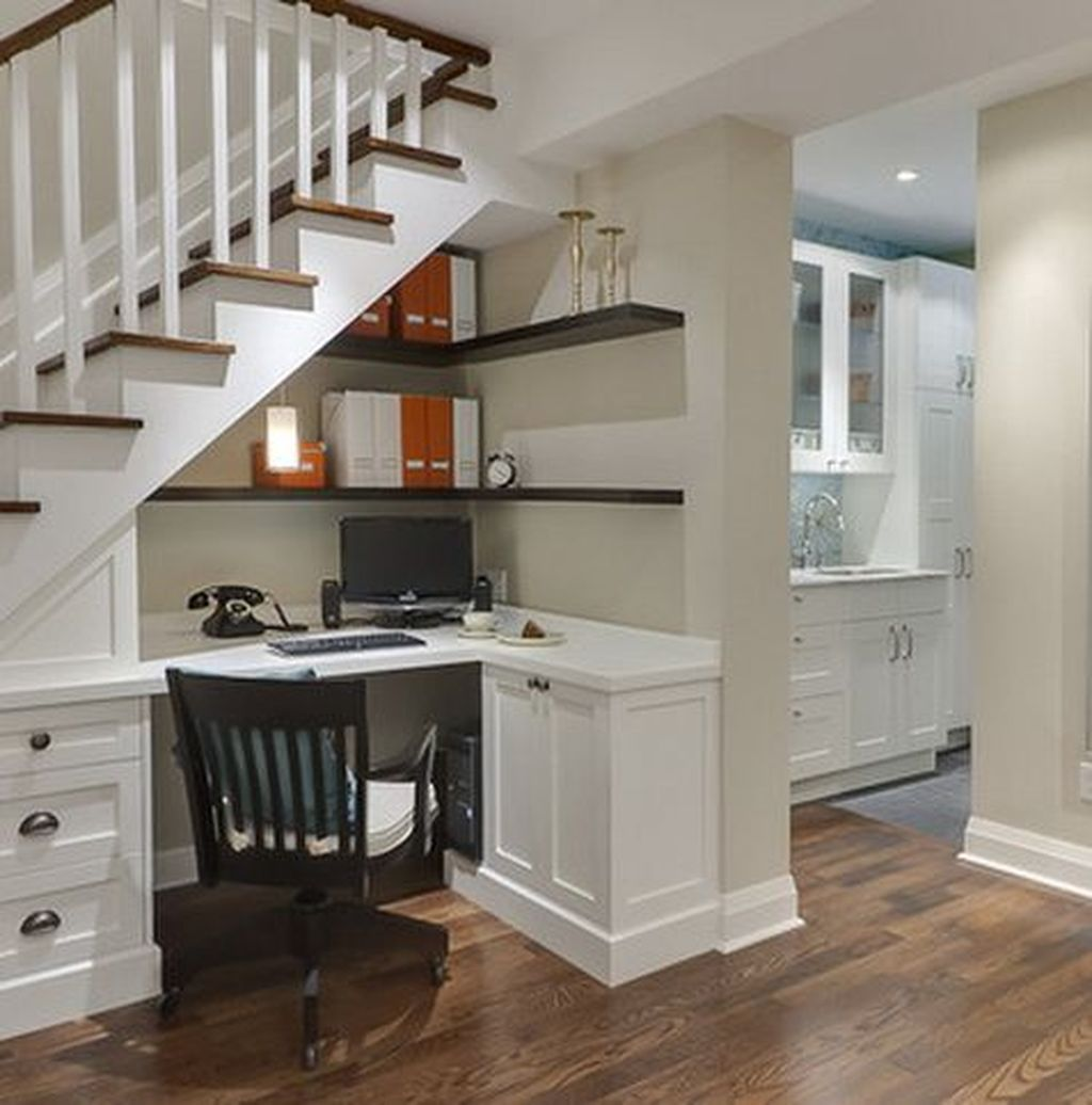 Basement Home Office: Awesome Basement Apartment Ideas You Have To Know 34 In