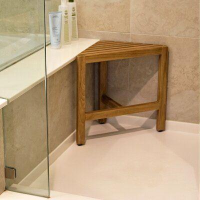 Gracie Oaks Noell 19 7 Quot W Teak Shower Bench Standing