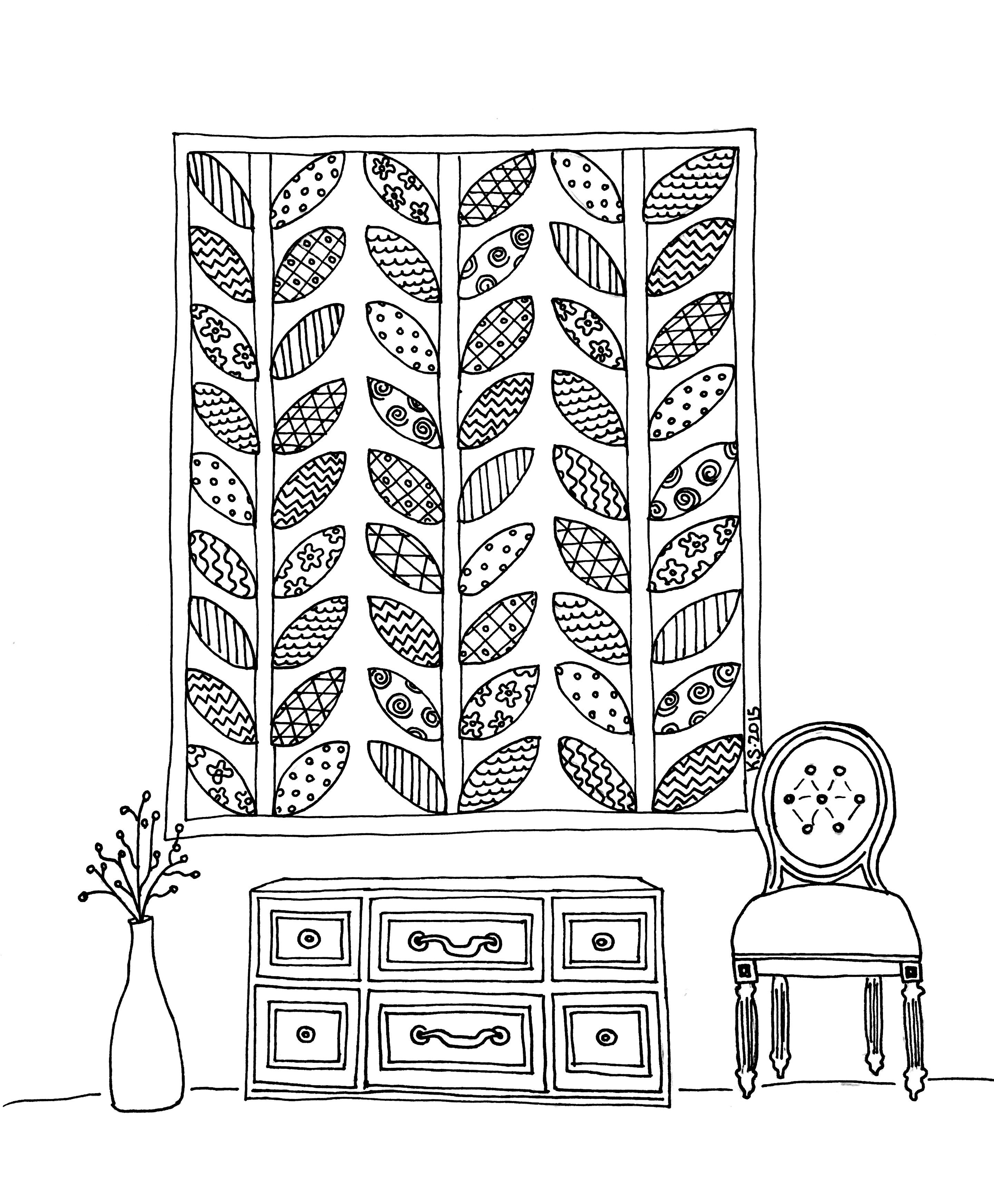 Super fun Quilt Coloring Page! | For the colorer | Pinterest | Adult ...