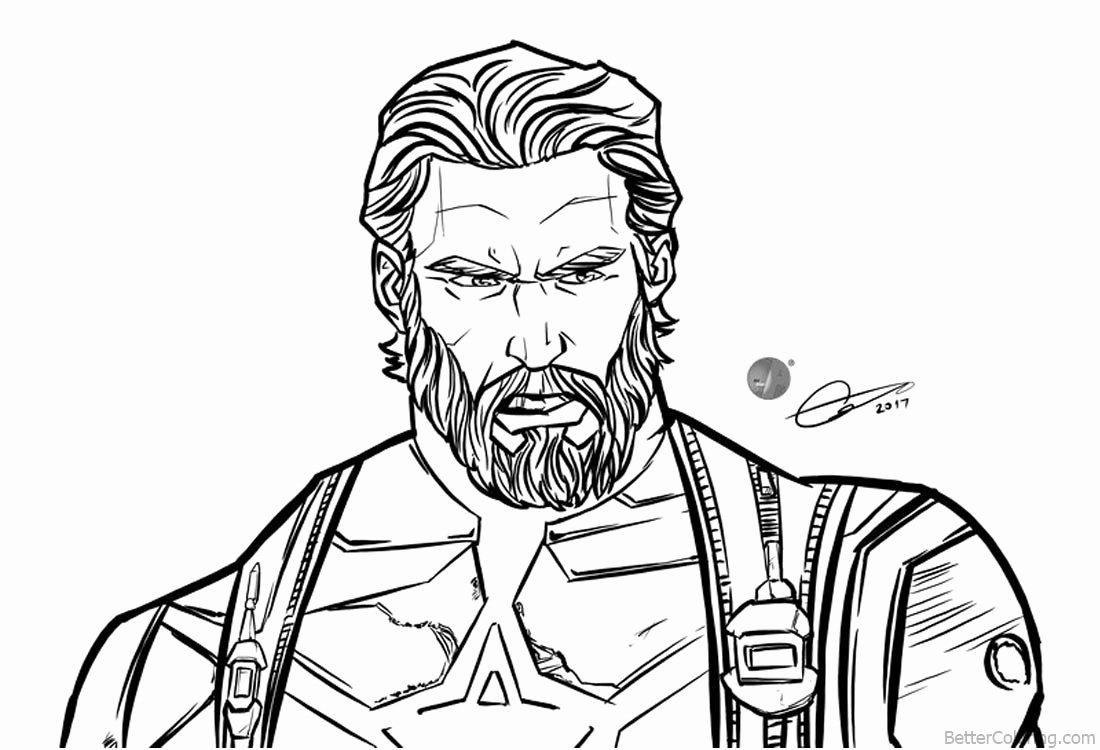 Infinity War Coloring Pages