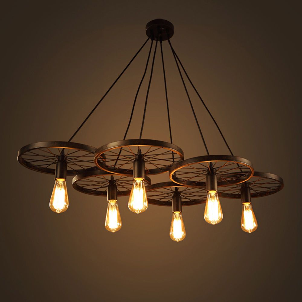 Wagon Wheel Chandeliers For Dining Rooms Large Foyer Barn Rec Room Lighting Den Nathaniel Rustichangingbarn