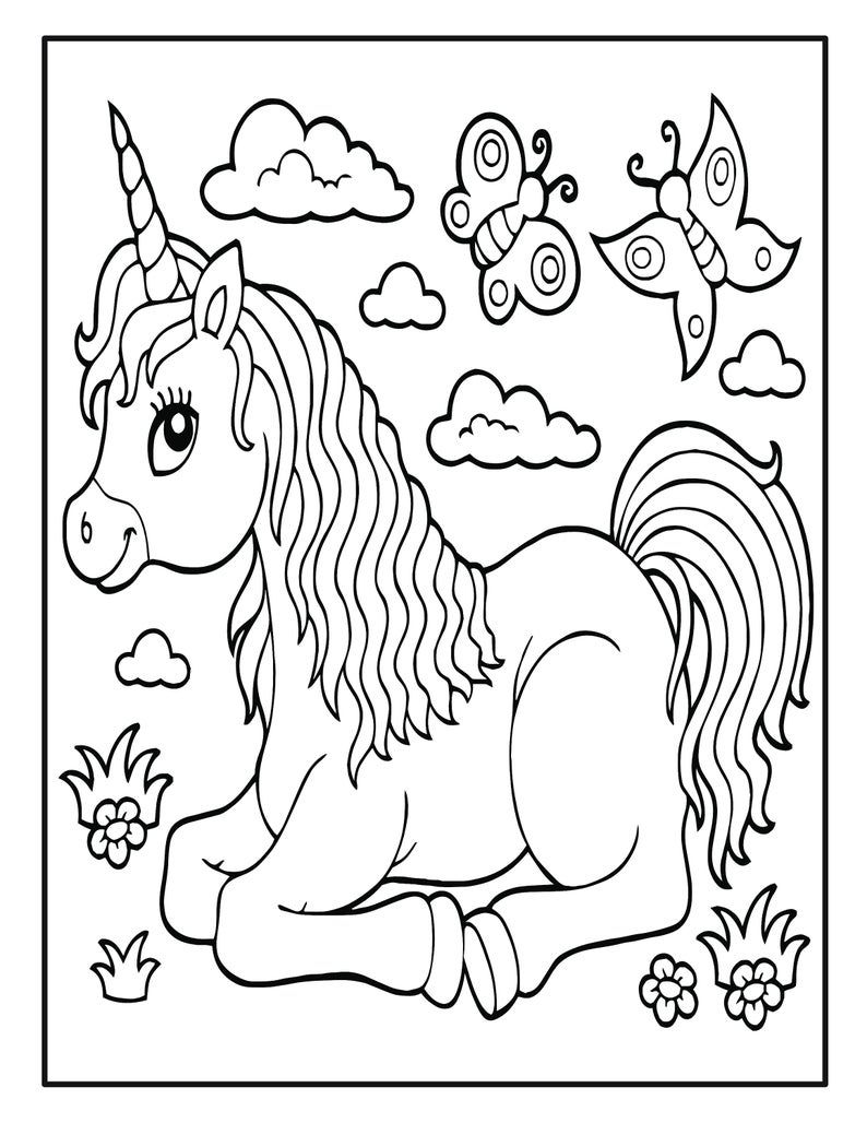 Unicorn Coloring Book Pages For Kids 50 Unicorn Coloring Pages For Kids Kids Printable Coloring Pages Unicorn Coloring Pages Coloring Pages