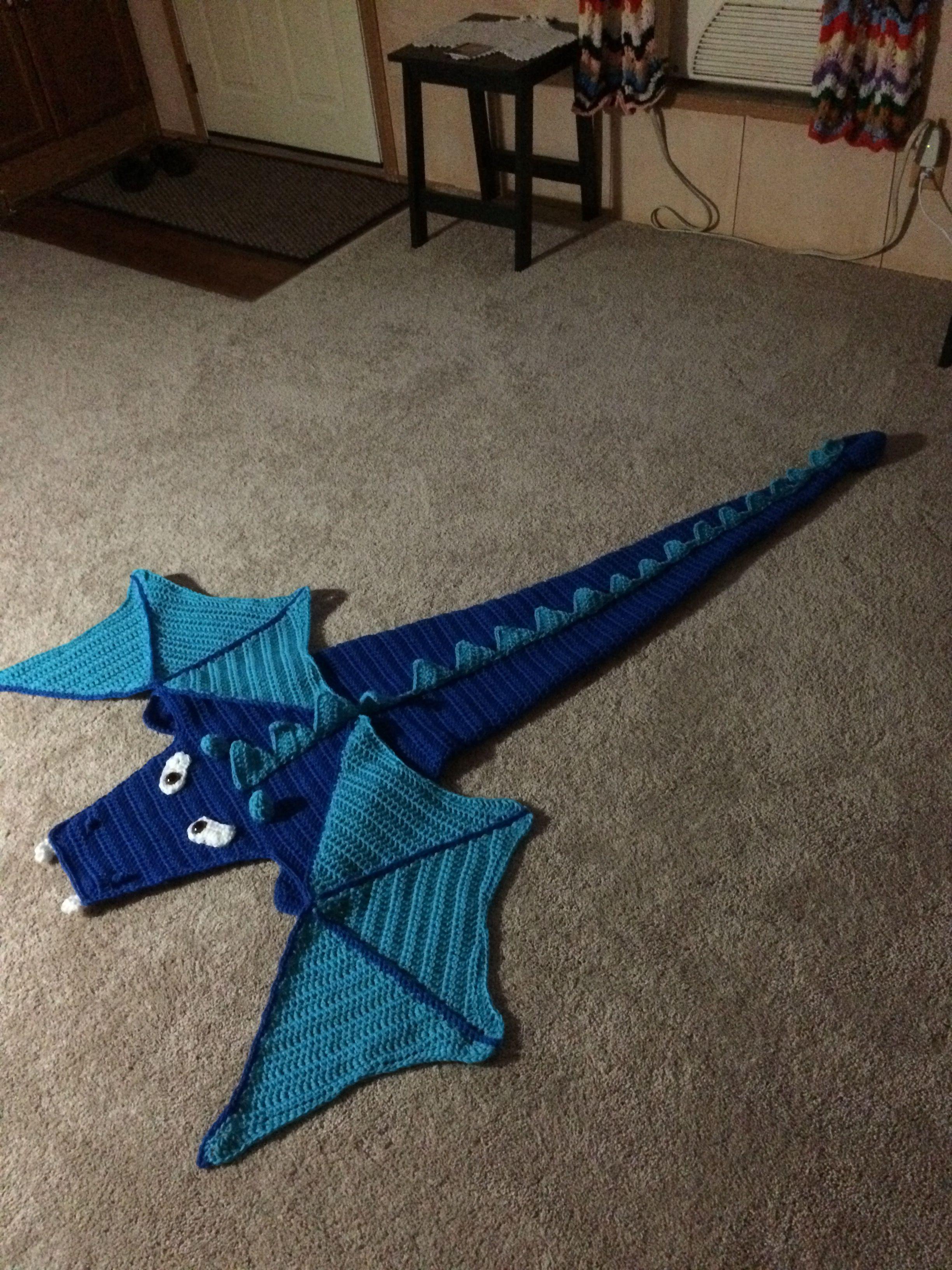 Crochet Dragon Blanket Kit From Herrshners Crocheting For The