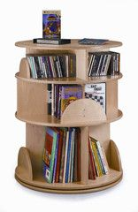 Whitney Brothers Three-Shelf Multimedia Carousel
