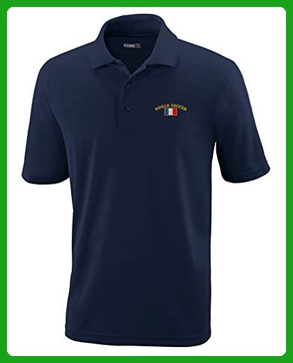 23b25419 France World Soccer Flag Embroidery Polyester Performance Polo Shirt Navy  3X-Large - Sports shirts (*Amazon Partner-Link)