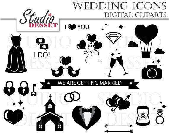Hochzeit Symbole Clip Jahrgang Hochzeit Einladung Von Studiodesset