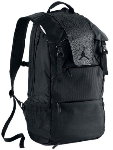 ed26e98a52b74a Nike Air Jordan Male Laptop   Tablet Black Rucksack Backpack Book Bag for  Basketball 546472-