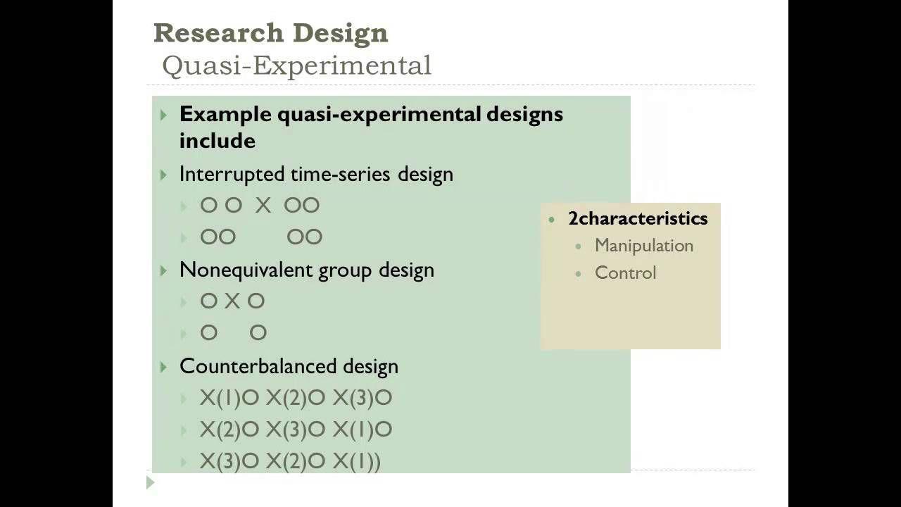 Developing A Quantitative Research Plan Choosing A Research