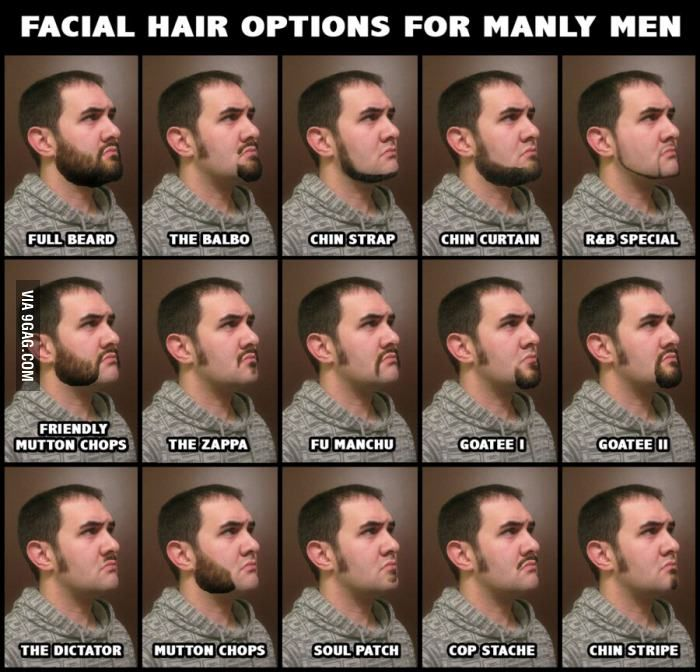 Name types of mustache facial hair — pic 13