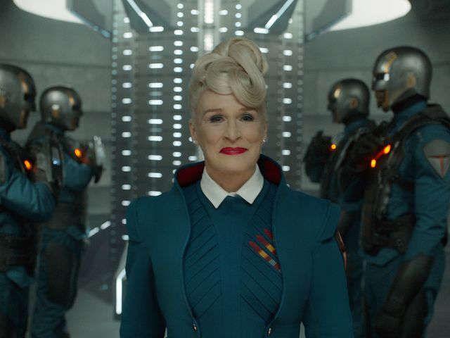 Serious Actress Glenn Close Embraces Guardians Fun Guardians Of The Galaxy Glenn Close Galaxy Movie