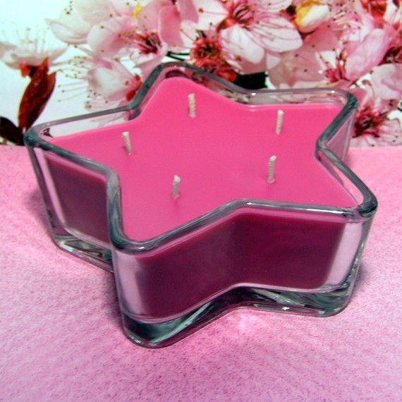 Cherry Blossom PURE SOY Star Container Candle 11 oz.