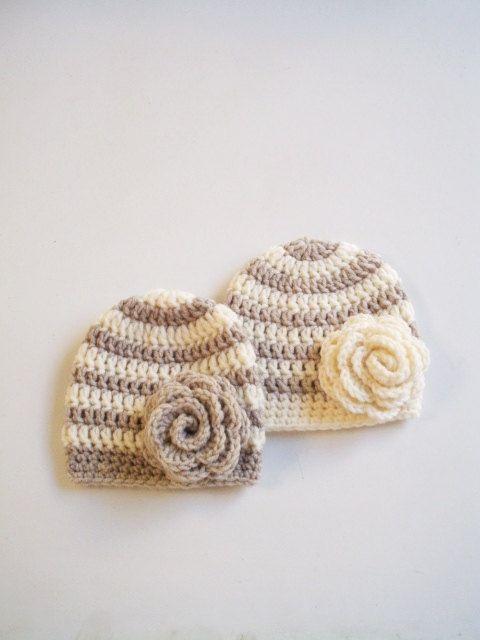 Crochet Child Hats New child twin hats set Crochet twin hats women ...