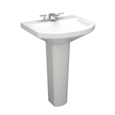 Icera The Muse Pedestal Sink 20 2380 Home Depot Canada Sink Pedestal Sink Square Sink